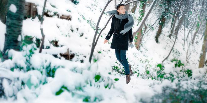 michael jou levitation neige