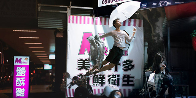 michael jou levitation parapluie