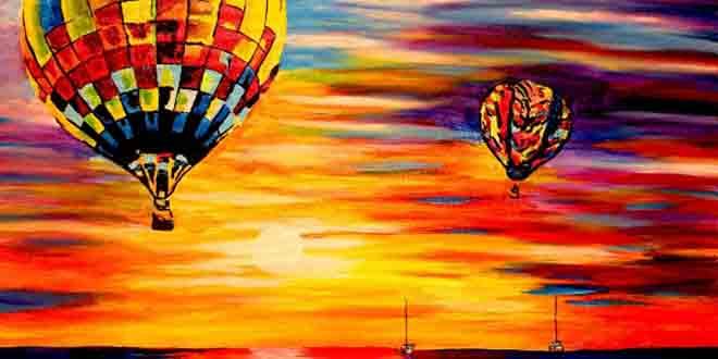 montgolfiere peinture aveugle artiste
