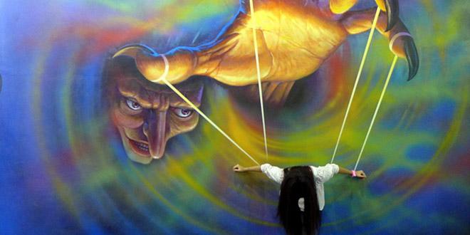 musee 3d peintures main corde