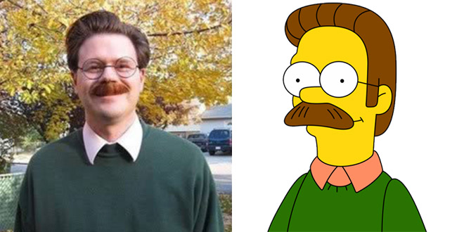 ned flanderned flanders simpsons sosies simpsons sosie