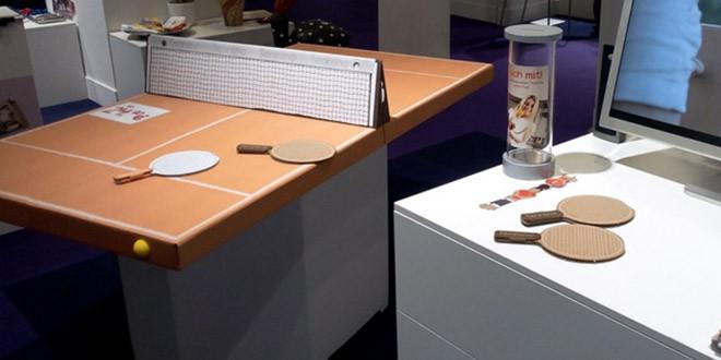 table ping pong carton pliable