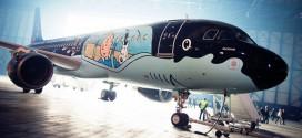 avion tintin bruxelles a320 rakham