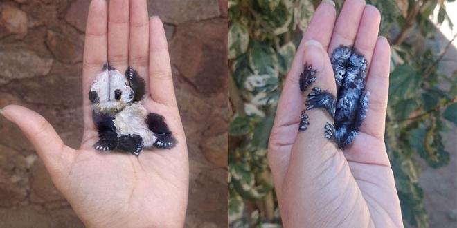 elle-peint-sa-main-avec-des-illustrations-3D