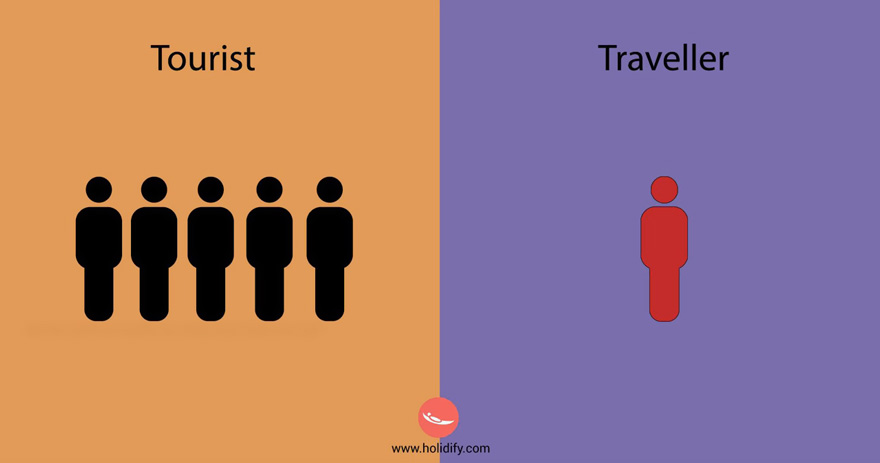 différences voyageur et touriste