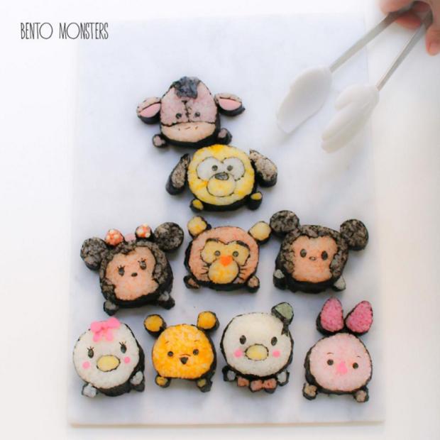 maman-créer-sushis-en-forme-de-personnages-de-cartoons-manger-équilibrer-ses-enfants