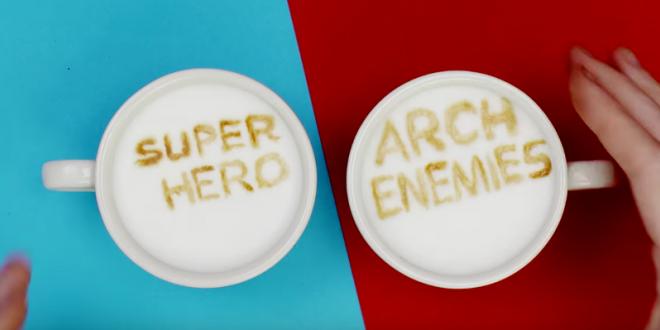cafe dessin super heros