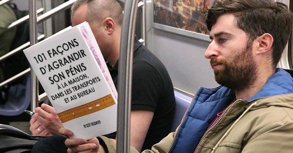 couverture livre genante métro