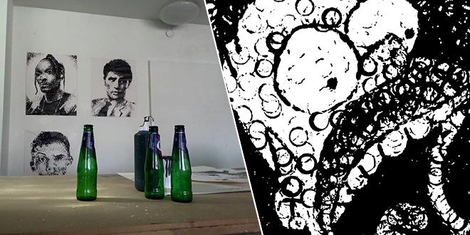 peintures-realisees-avec-des-bouteilles-de-biere
