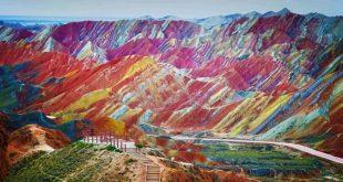 Vista-formaciones-Zhangye-Danxia-China