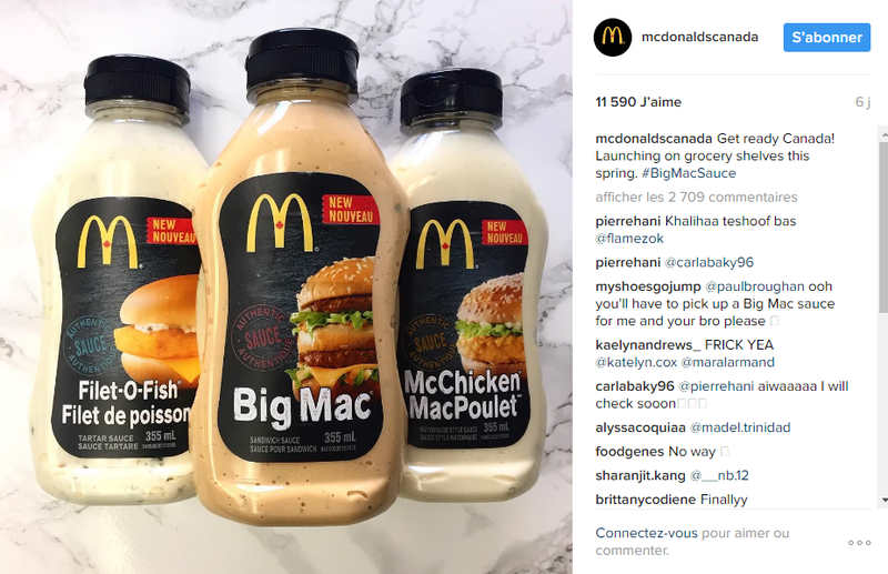 lancement Big mac sauce