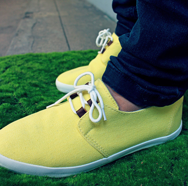 smoothy shoes jaune citron