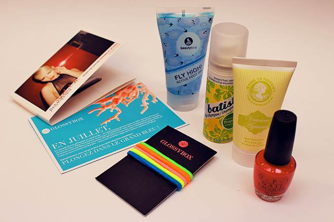 produits de la glossy box
