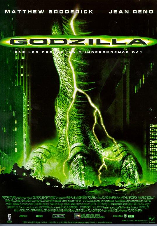 L'affiche Godzilla en 1998