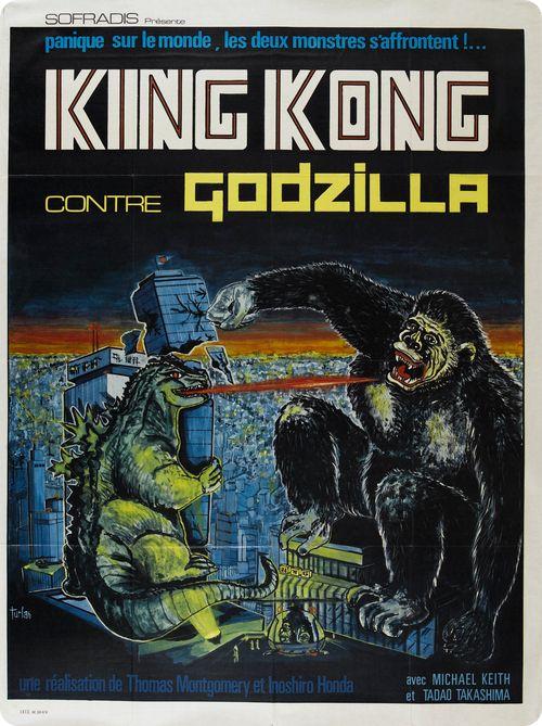 L'affiche du film Godzilla en 1962