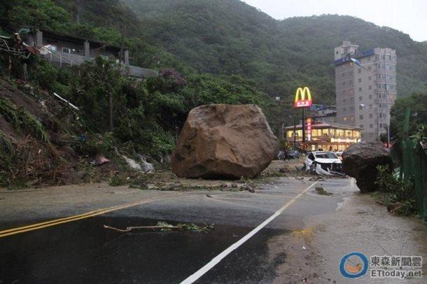 chute rocher ecrase taiwan