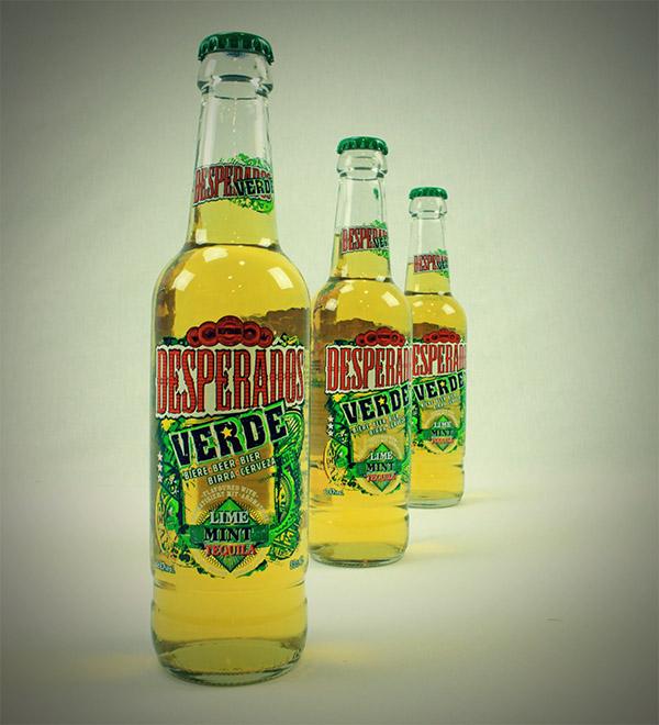 desperados verde bouteilles