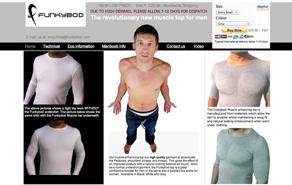 funkybod t-shirt remodelant