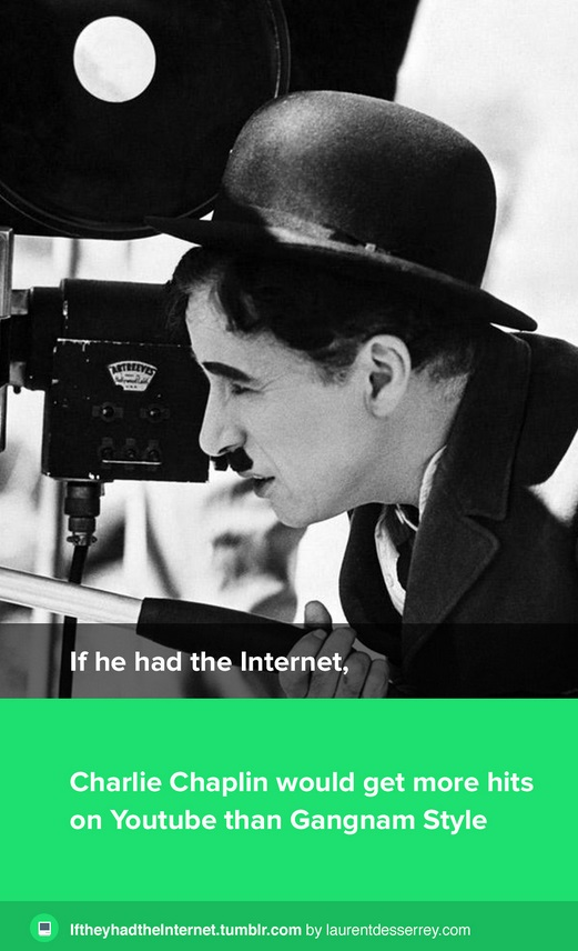 if he had internet charlie chaplin