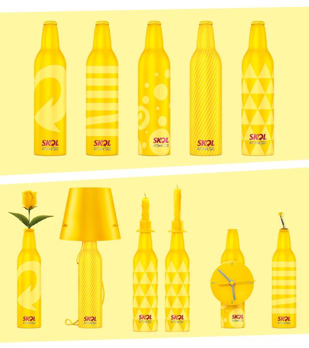 Skol, la bouteille design!