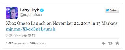 Le tweet de Larry Hryb